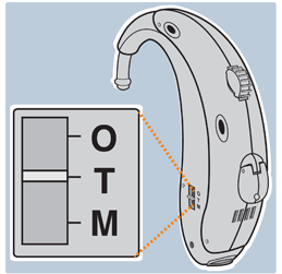Hearing aid T-setting
